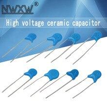 50 pçs/lote 1KV 2KV 3KV alta tensão capacitor cerâmico 101/221/471/681/102/152/222/332/472/103/223 560pf 470PF 1nf 10NF