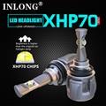 Оригинальные светодиодные фары INLONG Xhp70 H7 H11  H4 Led H8 Hb3 9005 9006 HB4 D4S D2S D1S D3S  противотуманные фары 15600LM 6000K