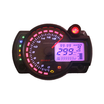 FREE SHIPPING 18000rpm 7 Color Modern RX2N Similar LCD Digital Motorcycle Odometer Speedometer Adjustable KOSO MAX 299KM/H Meter