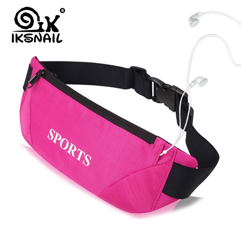 IKSNAIL Sports Bag Running Waist Bag Pocket Jogging Portable Waterproof Cycling Bum Bag Outdoor Phone Anti-theft Pack Belt Bags