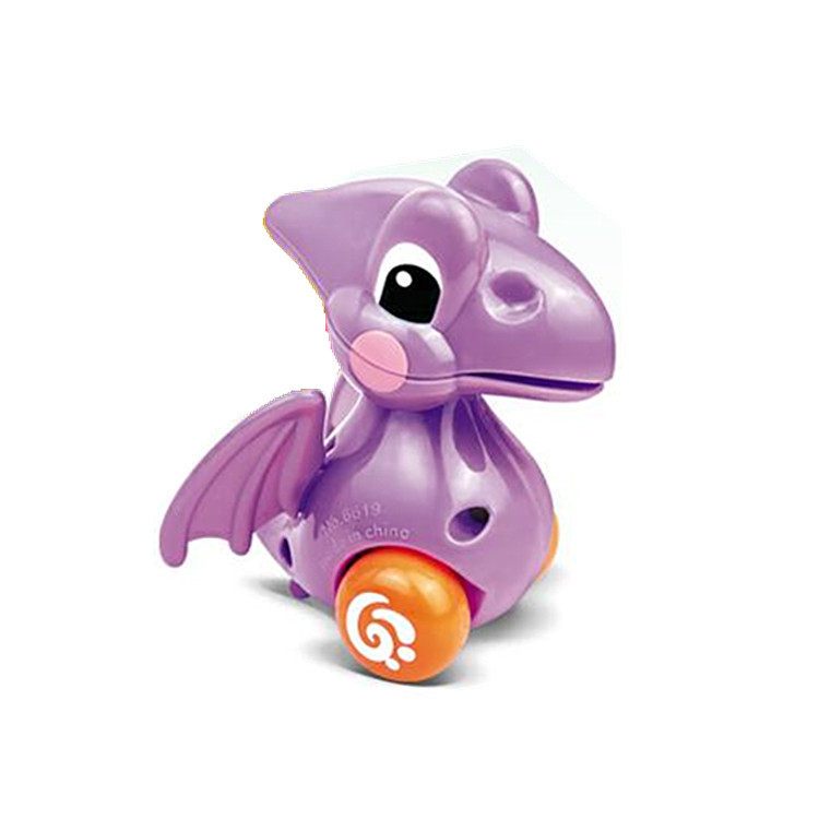 Mini-Wound Spring Small Toy Winding Spring Cartoon Animal Series Small Toy Dinosaur With Chains Pterosaur Toy