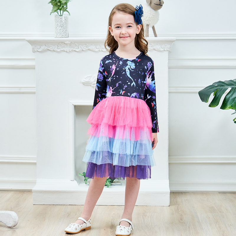 H3e2ae0645d6043f3b31968a02ba54048p DXTON 2018 New Girls Dresses Long Sleeve Baby Girls Winter Dresses Kids Cotton Clothing Casual Dresses for 2-8 Years Children