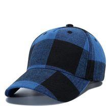2019 Winter Baseball Cap Fashion Hats for Men Red Blue Black White Plaid Cotton Cap Hat Women Adjustable Lattice Hat Female недорого