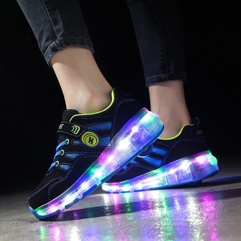 led sapatos para a menina tênis crianças
