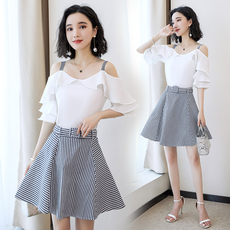 2019 Summer Wear New Style Korean-style Very Fairy Fashion France Non-mainstream Playful Online Celebrity Off-Shoulder Camisole