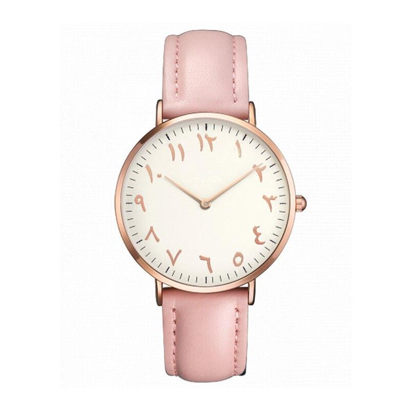 2019 Top Brand Women Watches Fashion Ultra Thin Arabic Numerals Quartz Wrist Watches Ladies Dress Watch Montre Femme Clock Gift