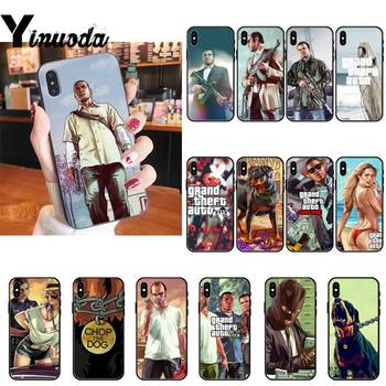 Yinuoda Grand Teft Auto Five Gta Phone Case cover For iPhone X 6 6S Plus coque for iPhone XS MAX SE 12 Pro Promax image