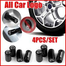 4pcs Black Metal Wheel Tire Valve Caps For Volkswagen VW TOYOTA Hyundai Chevrolet FORD BMW AUDI DODGE Mercedes AMG HONDA SKODA