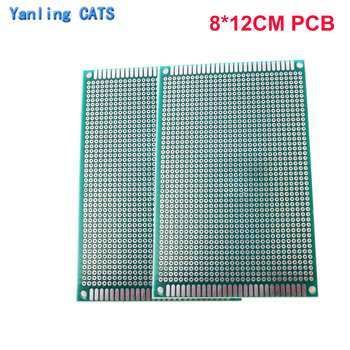 Prototype PCB Welding exercise board 8*12cm diy Universal Printed Circuit Board Double Side 2PCS nb 350i 500i secondary welding machine control board gas welding machine circuit board circuit board main board