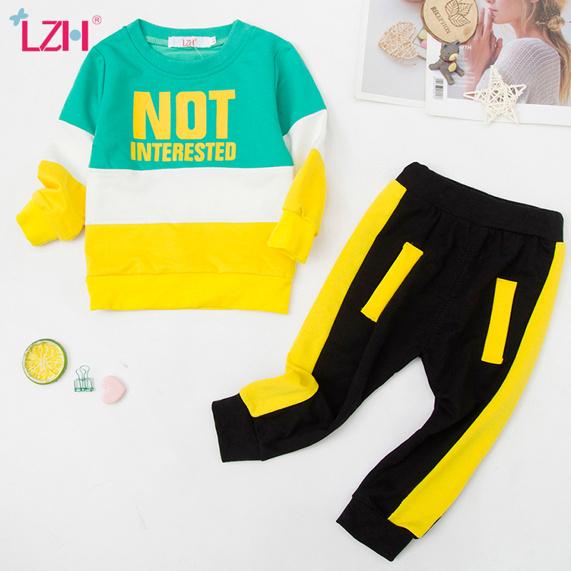 LZH Infant Clothing For Baby Girls Clothes Set 2021 Autumn Spring Newborn Baby Boys Clothes T shirt+Pant 2pcs Suit Baby Costume