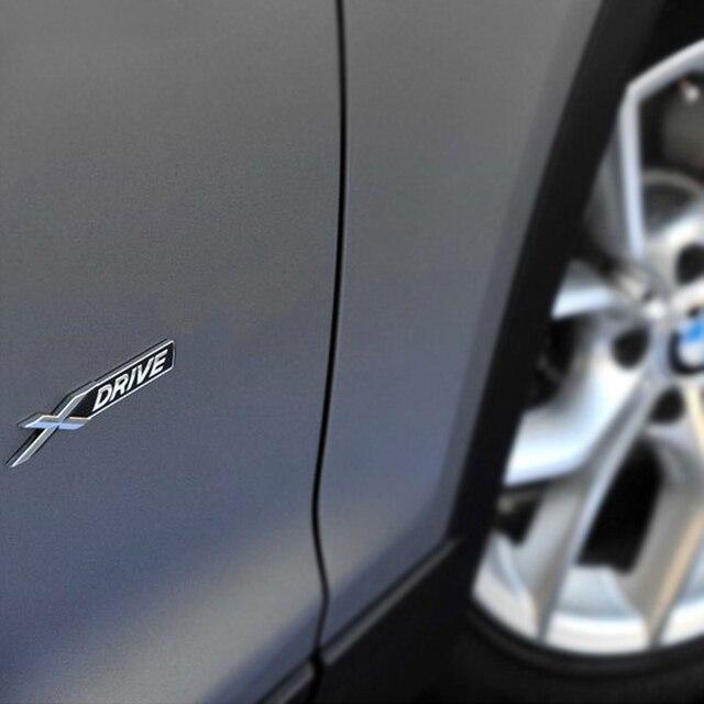 1 pçs 3d metal x e 5 unidade fender lateral do carro tronco traseiro emblema emblema adesivo decalques para jeep dodge bmw mustang volvo