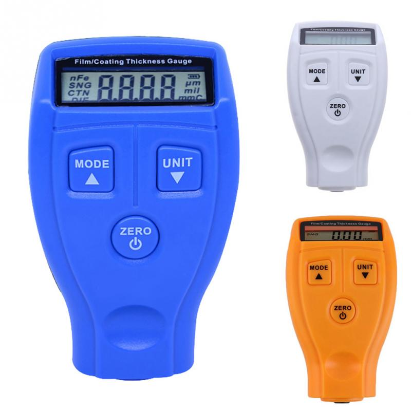 Portable Film Paint Coating Thickness Gauges Tester Car Surface Paint Measure Meter Non-magnetic Measurement Instruments