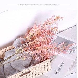 Image 3 - 35cm 80cm מזויף אקליפטוס משאיר צמחים מלאכותיים פלסטיק עץ סניף שווא טרופי עלים לחתונה בית מפלגת קישוט