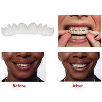 1PC Kosmetische Zahnmedizin Snap Auf Lächeln Instant Perfekte Lächeln Komfort Fit Flex Zähne Passt Meisten Falsche Zähne Oberen Zahn abdeckung
