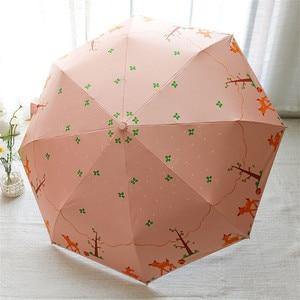 Image 2 - Lotosblume מותג מכירה לוהטת חדש באופן מלא אוטומטית אנטי Uv לנשים מתנת אופנה Windproof שמש גשם גבירותיי מטריות