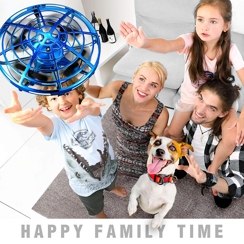 Mini Drone UFO Hand Operated RC Helicopter Quadrocopter Dron Infrared Induction Aircraft Flying Ball Height Hold Toys for Kids