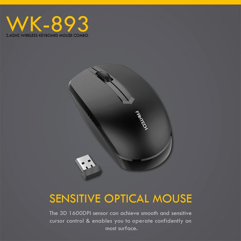 Fantech WK-893 Wireless Keyboard Mouse Combo 7