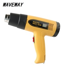 цены Industrial 2000W  Hot Air Gun Heat Gun LCD Digital Temperature controlled Heat Blower Electric Adjustable Temperature Power Tool
