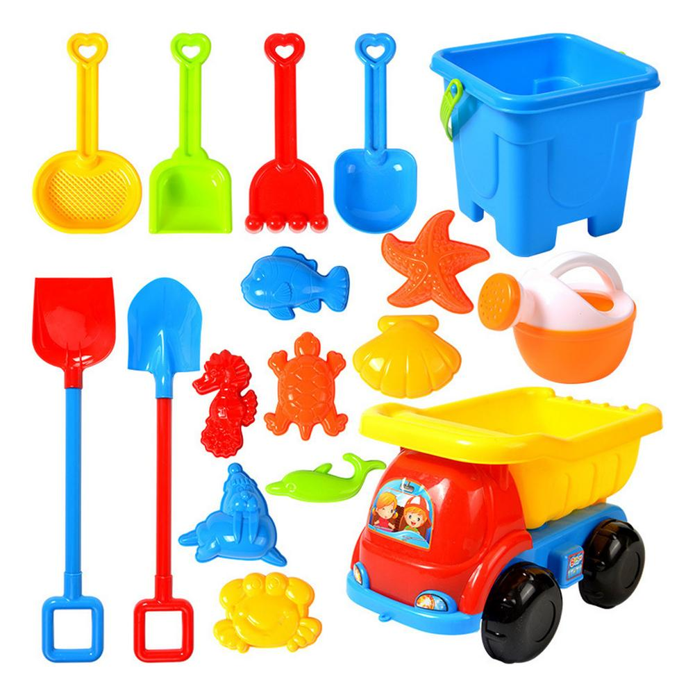 2021 New Baby Beach Game Toy Children Sandbox Toys Silicone Soft Sand Beach Set Kit Toys For Beach Play Sand Water Play Cart