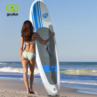 Goplus 10' Inflatable Stand Up Paddle Board SUP Soft EVA Textured Deck Pad Beginner Fishing Recreational Paddling Surfboard