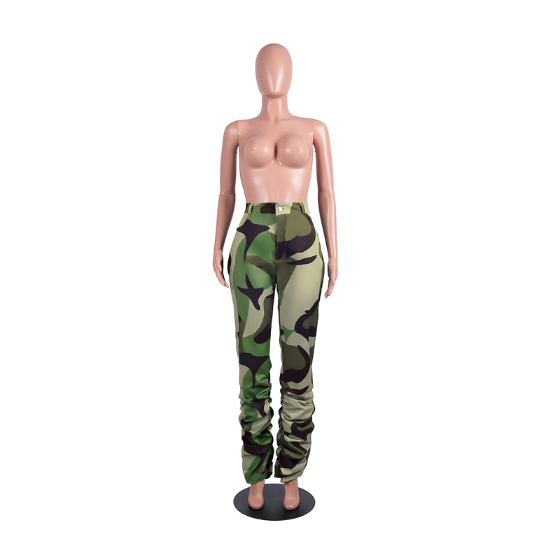 Adogirl Camo Leopard Print Jeans Ruched Pants High Stretch Button Fly Slim Casual Skinny Trousers Autumn Winter Pants Outfit Pants & Capris Women Bottom ! Plus Size Women's Clothing & Accessories