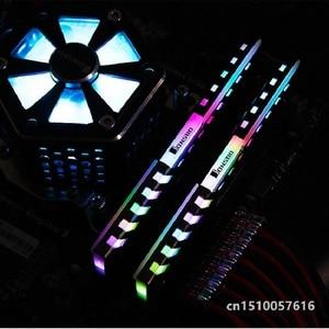 Image 4 - 2 sztuk RAM radiator Cooler Shell 256 kolor automatyczna zmiana aluminiowy radiator pamięć stacjonarna kamizelka chłodząca NC 2