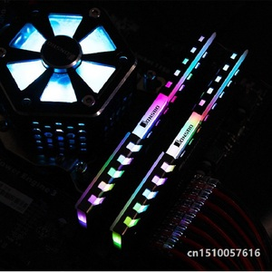 Image 4 - 2PCS RAM Heatsink Cooler Shell 256 Color Automatic Change Aluminum Heat Sink  Desktop Memory Cooling Vest NC 2