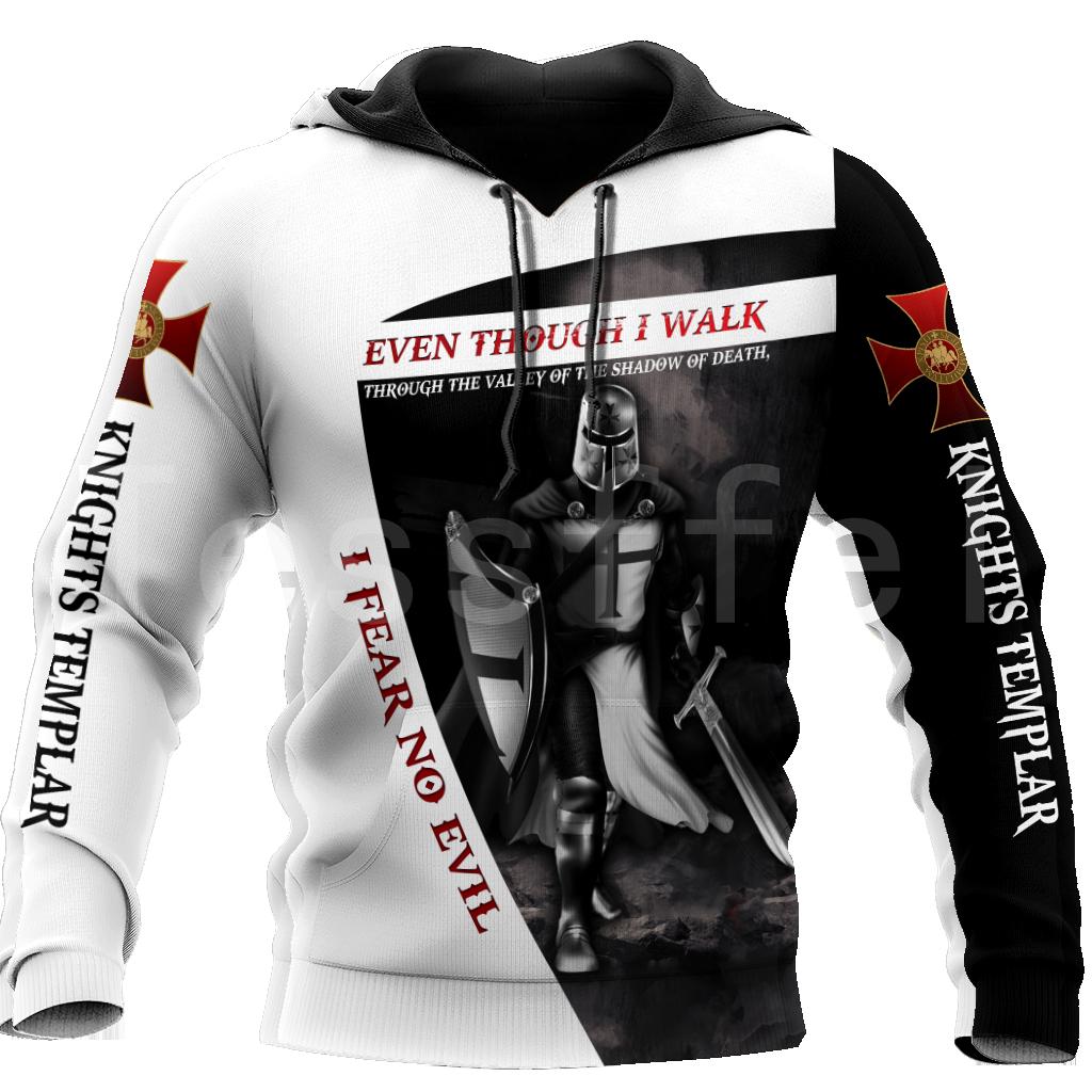 Tessffel Newest Knight Templar Armor Jesus God Guard Cavalier Pullover Streetwear NewFashion 3DPrint Men/Women Funny Hoodies D20