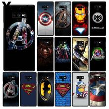 Yinuoda Marvel Avengersiron Pria Captain America Phone Case untuk Samsung Galaxy A50 S10 S9 Plus Note9 8 Note7 5 4 3(China)