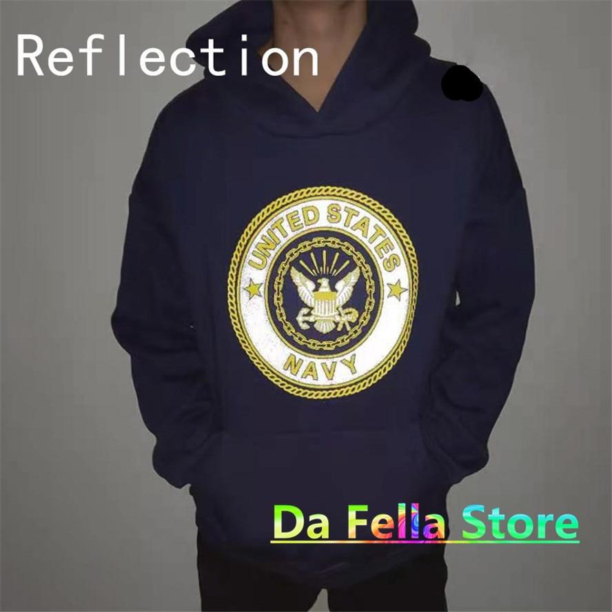 Jesus is king Kanye West United States Navy Reflective Logo Sweatshirts Hoodie  2