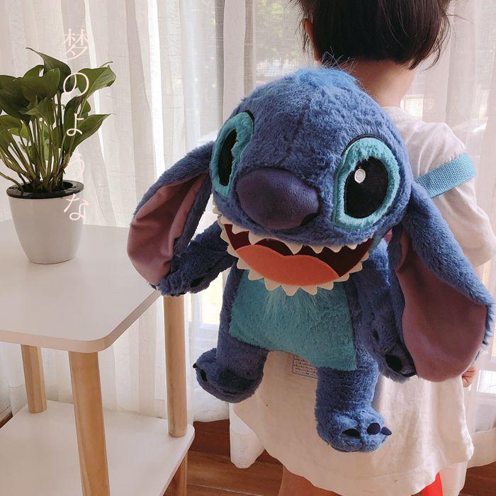 Big Cute Cartoon Stitch Plush Backpack Anime Lilo And Stitch Stuffed Animals Dolls Toy Animal Backpack Girls Bag Children Gifts
