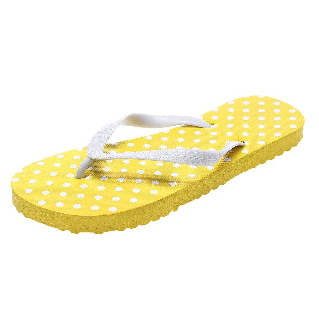 Women's Fashion Dot Beach Flip Flops Girls Summer Soft Comfortable Lightweight Slipper Shower Pool Bath home Slipper shoes
