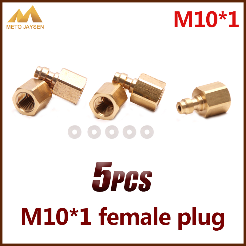 PCP Airforce Paintball Copper M10x1 8MM Female Plug Socket Quick Coupler Connector Fittings 5pcs/set