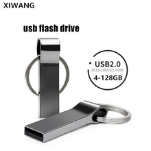 New usb flash drive 64gb metal pendrive 8gb silver USB stick 32gb waterproof pen drive 16gb USB memoria disk 128gb 4gb free logo цена и фото