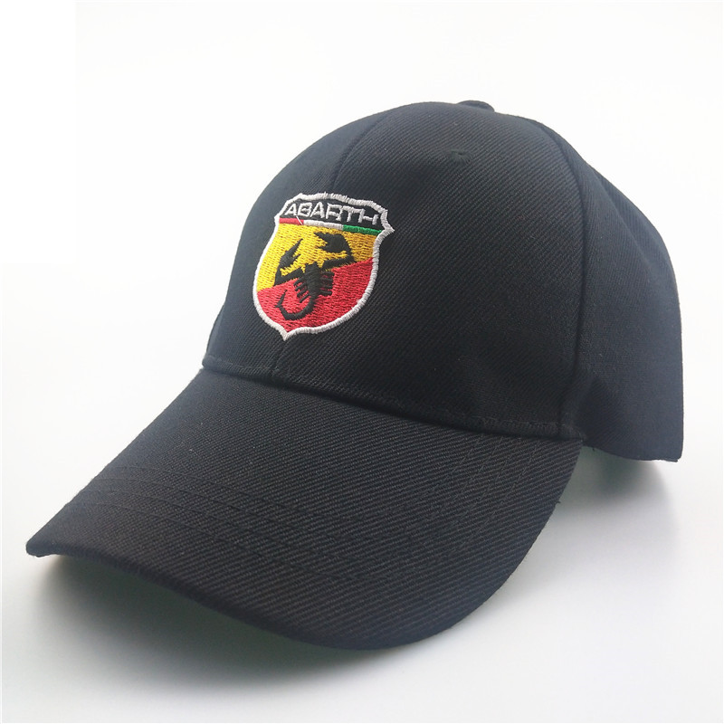 New Unisex Cotton Embroidery Baseball Cap Hats For Abarth Panda Bravo Punto Linea Croma 500 Motorcycle Car Styling Accessories