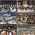 Рождественские наклейки на окна, Санта-Клаус, снежинка, украшение на стену, Рождественское украшение для дома, 2020, рождественские украшения,...