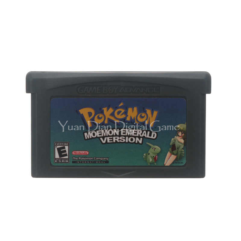 For Nintendo GBA Video Game Cartridge Console Card Poke Series Moemon Emerald English Language US Version