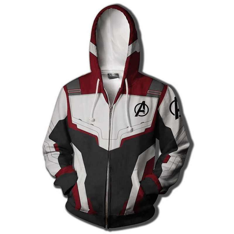 Avengers Endgame Quantum Realm Sweatshirt Jacket Advanced Tech Hoodie Cosplay Costumes 2020 new superhero Iron Man Hoodies suit