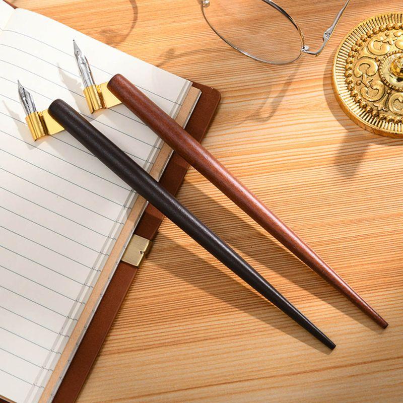 Wood Manga Calligraphy Dip Pen Holder +6 Nibs For Lettering Skiching Drawing Kit
