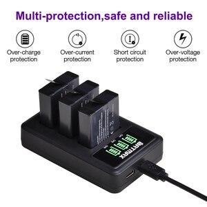 Image 3 - 3個のバッテリー移動プロヒーロー7移動プロ6/5 AHDBT 501バッテリー + led 3スロットusb充電器タイプcポート移動プロアクセサリー