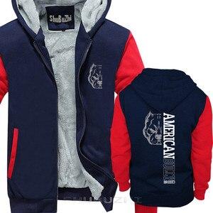Image 3 - Erkekler kalın ceket Yeni Serin Erkekler sıcak tutan kaban Amerikan Kabadayı Cins Üstleri Serin kalın hoodie adam marka üstleri kalın hoody sbz5073