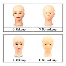 54см манекен головы для парик и дисплей шляпы очки модель куклы голова лысая женщина резиновая учебные головы