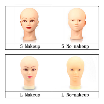 54cm Mannequin Head For Making Wig Or Display Hats Glasses Model Dolls Head Bald Female Rubber Training Head