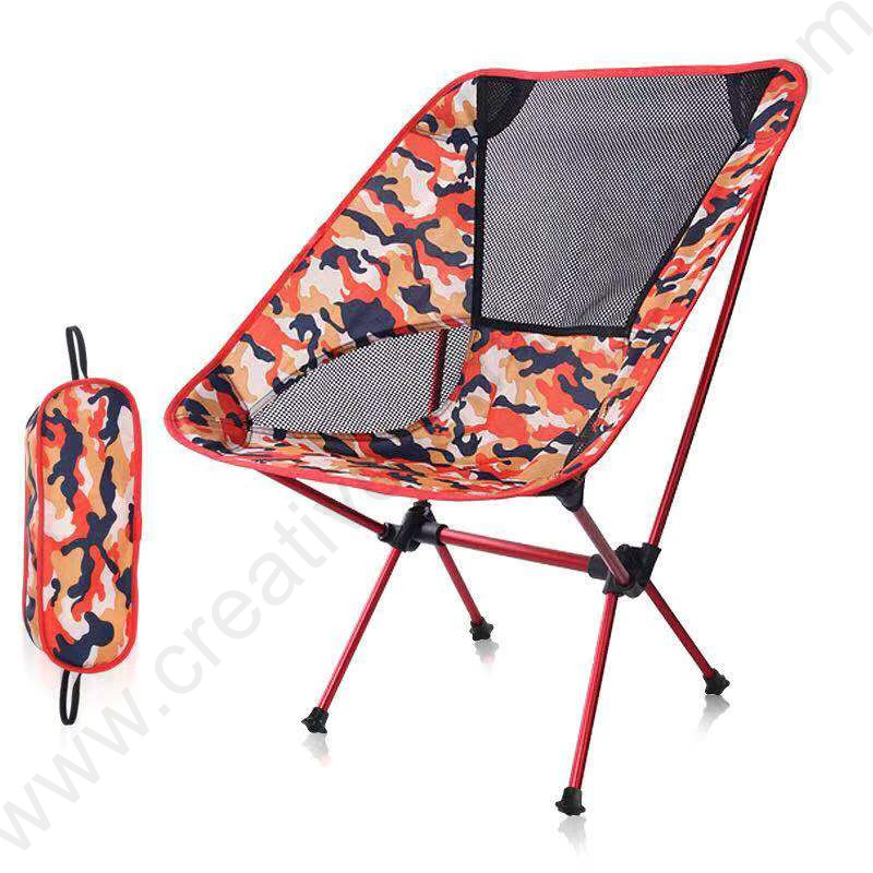 Bearing 150kg waterproof tensile 600D oxford outdoor aviation 75T aluminium alloy compact folding army camouflage moon chair image