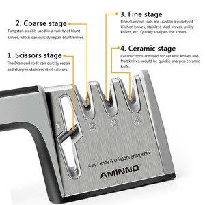 Image 3 - Afilador de cuchillos AMINNO para cuchillos, juego de piedra profesional multifuncional para cuchillos, afiladores, tijeras, cuchillos