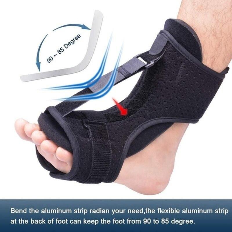 Fasciite plantar ajustável noite tala pé gota orthose estabilizador cinta suporte noite talas alívio da dor tornozelo apoio