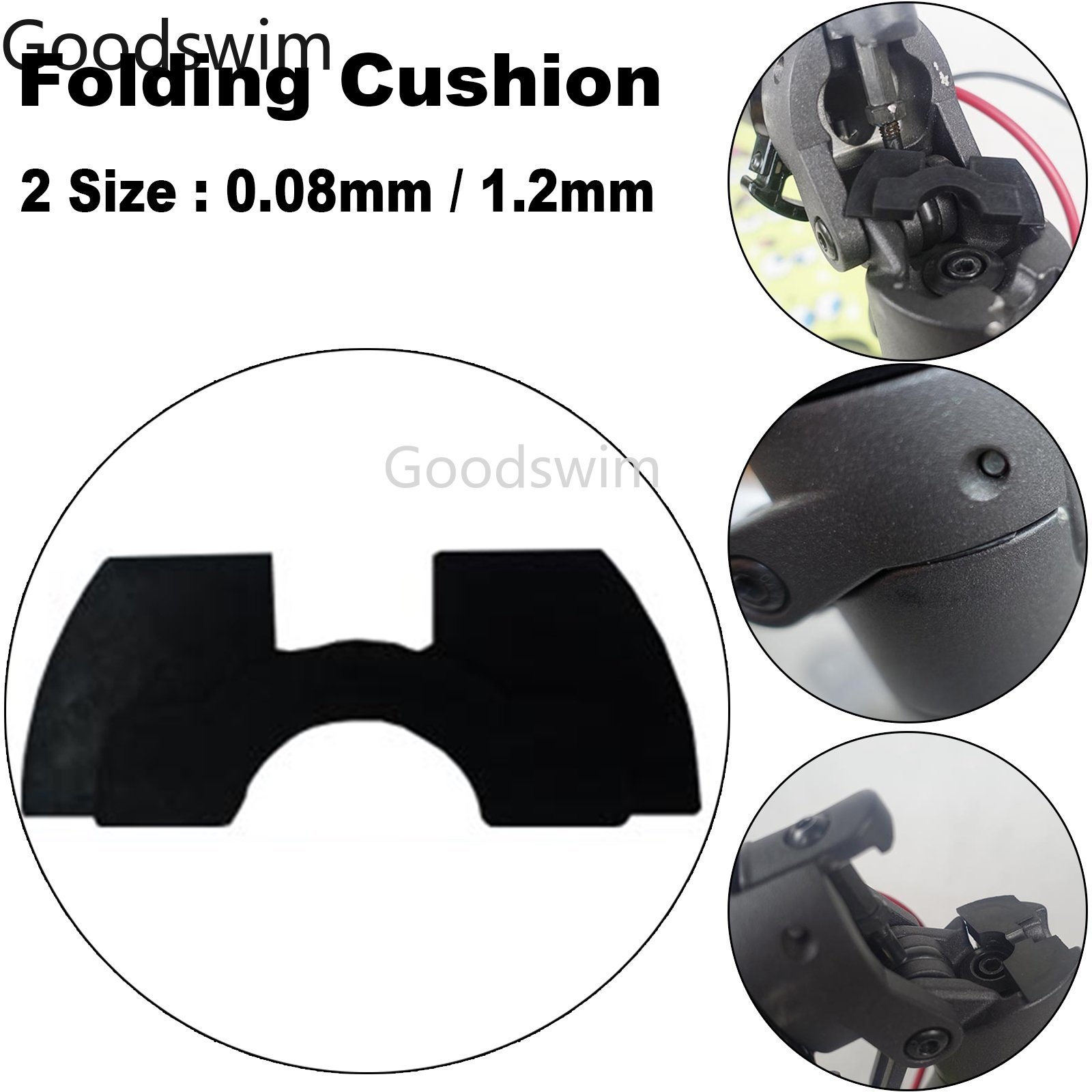 Electric Scooter Front Fork Damping Rubber Pad For XIAOMI MIJIA M365 Vibration Shake Avoid Folding Cushion Scooter Parts