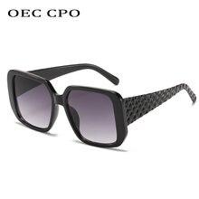 Oec cpo модные квадратные женские Солнцезащитные очки новые
