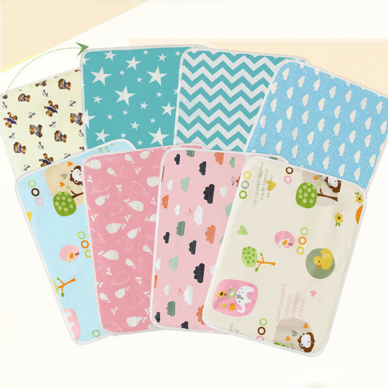 Newest Arrival Baby Waterproof Mattress Sheet Protector Diapering Cartoon Changing Pads For Bed Travel Baby Diapers Crib Sheet