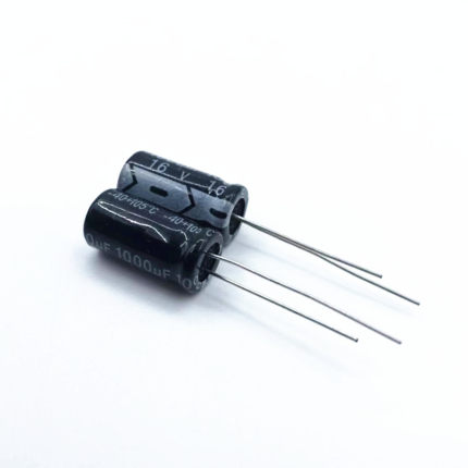 Free Delivery. 16 v 1000 uf 1000 uf electrolytic capacitor 10 mm in diameter image